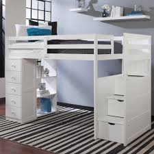 Canwood Bunk Bed Mountaineer Loft Bed With Storage Tower And Built In Stairs