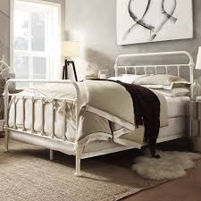 bedroom small bedside table design ideas with wrought iron bed