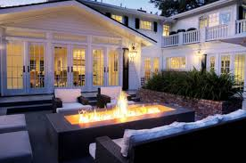 Gas Firepit Delicious Backyard Patio With Openair Gas Firepit Decor