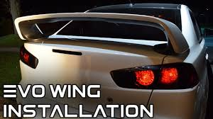 mitsubishi evo spoiler how to install an evo x wing on a 2008 2017 lancer youtube