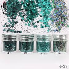green nail glitter powder promotion shop for promotional green