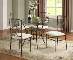 Circle Glass Table And Chairs Dining Room Lovely Chic Small Dining Room Design With Round Glass