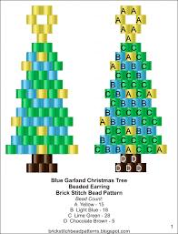 brick stitch bead patterns journal blue garland mini