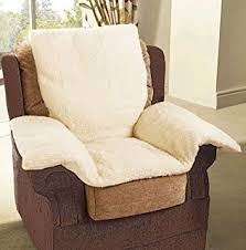 Upright Armchairs Faux Sheepskin Comfort Lower Back Support Upright Armchair Pillow