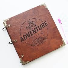 leather scrapbook album our adventure book photo album leather scrapbook album