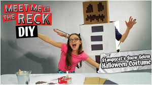 Minecraft Skeleton Halloween Costume by Diy Stampy U0027s Snow Golem Halloween Costume Meet Me At The Reck