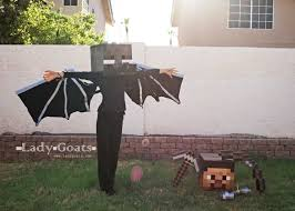 Minecraft Halloween Costume Lady Goats Enderdragon Costume