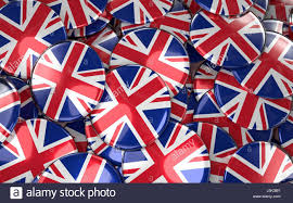 great britain badges background pile of british flag buttons 3d