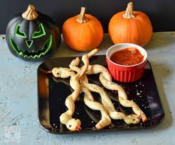 halloween snake bread stick snakes zesty south indian kitchen