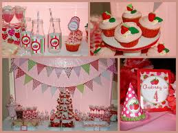customer party strawberry theme dimple prints