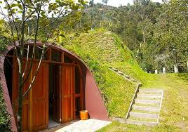 Underground Tiny House | futuristic underground hobbit house by green magic homes tiny