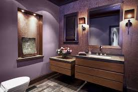 modern powder room with wall sconce by angela sarmiento zillow