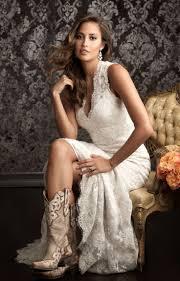 short wedding dress and cowboy boots wedding dress ideas