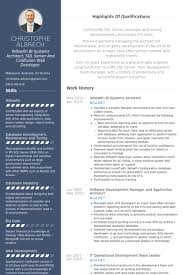 Data Architect Sample Resume by Real Cv Examples U0026 Resume Samples Visual Cv Free Samples Database