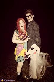 Cheap Halloween Costume Ideas For Kids Jack And Sally Costume Homemade Costumes Sally And Costumes