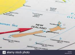 New Zealand On A World Map by Red Arrow Pointing New Zealand On The Map Of Australia Continent