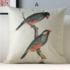 canape de style oreiller oiseau country américain pour canapé en canapé de