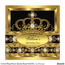 Google Invitation Cards Crown King Prince Queen Royal Gold Diamond Party 5 25x5 25 Square