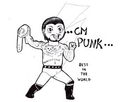 wwe coloring pages cm punk dx throughout cm punk coloring pages