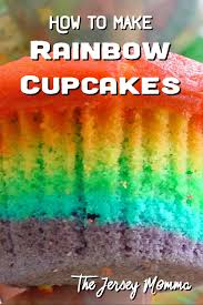 the jersey momma how to make rainbow cupcakes a diy tutorial