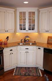 Best Kitchen WCorner Sink Ideas Images On Pinterest Home - Corner sink kitchen cabinets