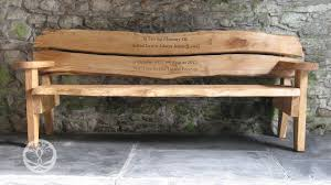 Commemorative Benches Personalised Hardwood Memorial Benches Celtic Forest