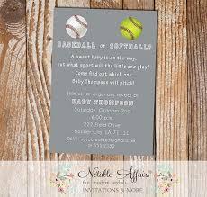 baseball or softball baby shower gender reveal party