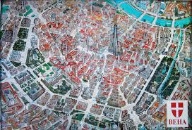 map of vienna 3d map of vienna historical center shymko s digest