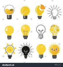 Flat Light Bulb Light Bulb Idea Creative Flat Vector Stock Vector 513929581