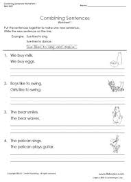 combining sentences worksheet combining sentences with
