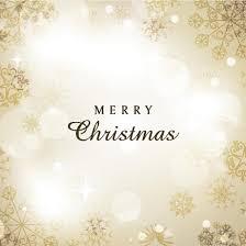 free vector beautiful golden merry christmas invitation card