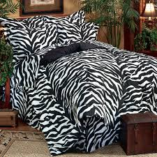 Zebra Bed Set Black And White Xl Zebra Print Bed In A Bag Free Shipping