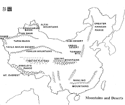 world map mountains rivers deserts east asia s geography through the 5 themes 6 essential elements