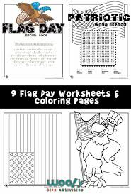 flag day word search and printable worksheets