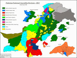 Map Of Election Results by Pakistan Geotagging Pakistan Elections 2013