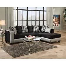 Black Fabric Sectional Sofas Black Microfiber Sectional Sofas For Less Overstock