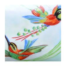 porcelaine peinte main boite porcelaine peinte à la main oiseaux du paradis