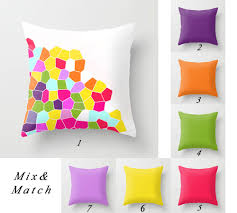 Discount Throw Pillows For Sofa by Colorful Pillow Covers Purple Pillow Orange Green Pillow