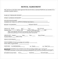 editable rental agreement template