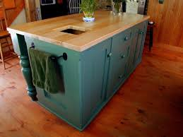 cute brown color wooden farmhouse kitchen island featuring brown