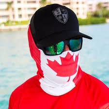 Flag Face Canada Flag Red U0026 White Face Shield Canadian Flag Bandana