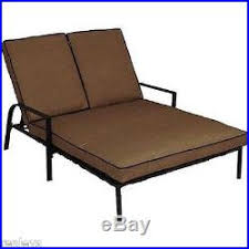 double chaise lounger patio furniture seats 2 outdoor wicker