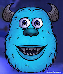 learn how to draw sulley easy disney characters cartoons draw
