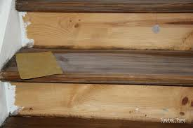 staining pine stair treads tempting thyme