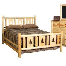 Wooden Log Beds Montana Log Beds U0026 Headboards Cabin Place