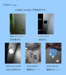 touch screen dimmer light switch led light mirror touch sensor