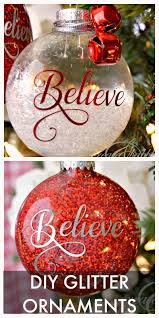 diy glitter ornaments create and babble