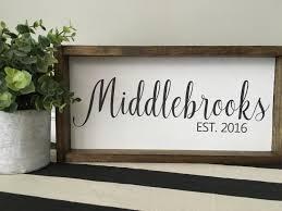 personalized name sign custom home decor farmhouse style decor