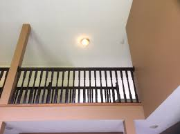 upper railing upgraded with general finish java gel stain