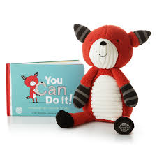 hoops and yoyo thanksgiving fox and you can do it encouragement book with plush hallmark